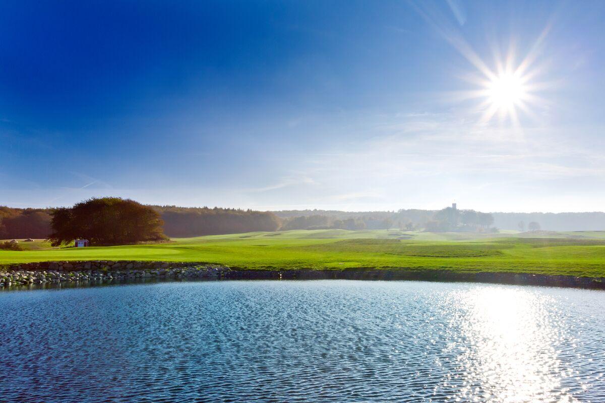 Wasserhindernis Golfplatz Schloss Ranzow